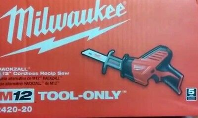 Milwaukee Electric Tool 2420-20 M12 Hackzall Bare Tool (No Battery)