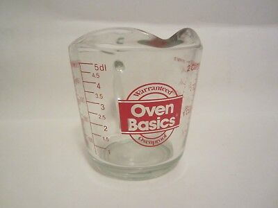 Anchor Hocking OVEN BASICS 2 Cup Measuring Cup Ovenproof RED Writing 498
