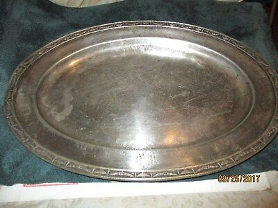 Reed and Barton silver soldered serving tray 1200 c2 18 Hotel Statler tray