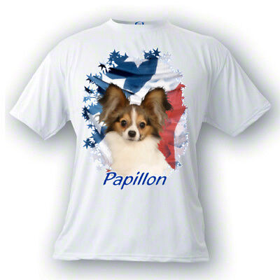 Papillon   # 1   Stars & Stripes  Custom   PERSONALIZED  Pet  T shirt