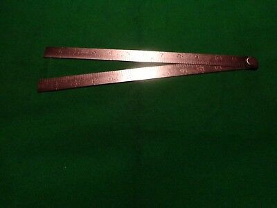 "Steel Ruler SHEFFIELD ??  VINTAGE 24""  FINEST SPRING STEEL Engineering Imperial"