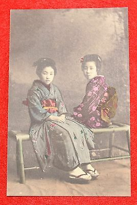 RARE Original ANTIQUE circa 1870's/1880's Large Post card JAPANESE