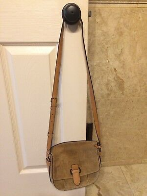 cabe98e85f MICHAEL KORS ROMY Desert Suede and Leather Crossbody Bag Purse Brown ...