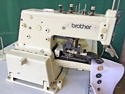 BROTHER CB404040 BUTTON Sewer Chain Stitch Industrial Sewing Custom Brother Button Sewing Machine