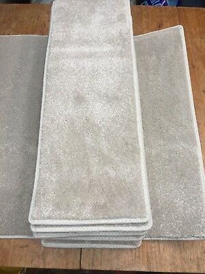 24x8.50inches(61x22cm) ARCTIC WHITE STAIR PADS THICK SOFT PILE #5006