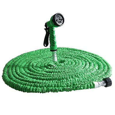 Expandable Flexible Magic Hose 25/50/75/100/125FT Water Pipe Spray Nozzle garden