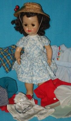 1950s Vintage TINY TERRI LEE WALKER DOLL with 15 Accessories