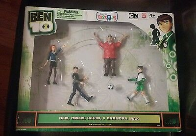 New 2011 Ben 10 4 Figure Collection Toys R Us Exclusive Bandai Cartoon Network