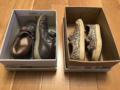 Clarks Girls Shoes - 2 Pairs - Size 6 1/2 E