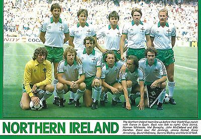 Northern Ireland 1984 Team Photo Print.
