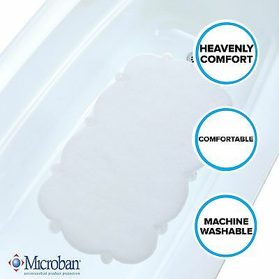 Clear Cloud Bath Mat: Soft, Mildew Resistant Tub Mat with Suction Cups