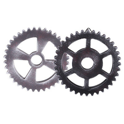 2PCS Retro Wall Hanging Decorative Wooden Gear Home Collectible 12cm Type3