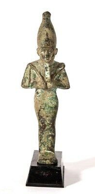 Large Ancient Egyptian Bronze Osiris.