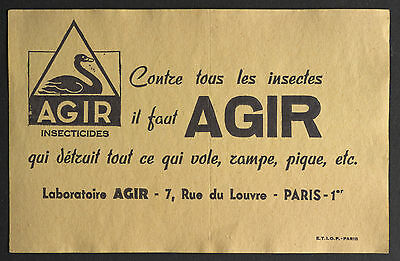 Buvard Publicitaire Ancien : Insecticides Agir