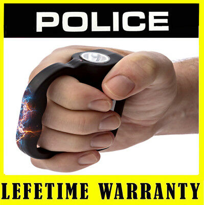 POLICE 519 - 999MV Rechargeable Police Stun Gun With LED Flashlight + Case