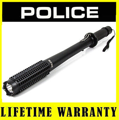 POLICE Metal 1118 65 BV Rechargeable Heavy Duty Stun Gun With LED Flashlight