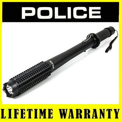 Stun Gun POLICE 1118 - 15 BV Metal Rechargeable With LED Flashlight + Belt Clip