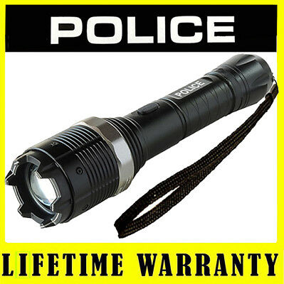 POLICE Stun Gun 8810 - 15 BV Metal Rechargeable With LED Flashlight + Case