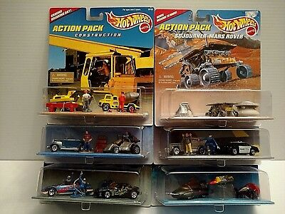 Hot Wheels Action Pack Lot Of 6 NEW