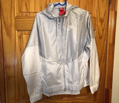 395406283f Nike Sportswear Women s Windrunner Jacket Pure Platinum White 804947-011 SZ  XL