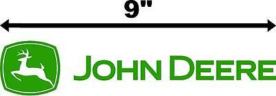 "4-pack 9"" John Deere Logo Tractor Decal Vinyl Sticker Green Lawnmower"