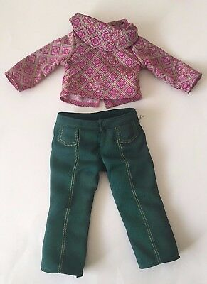 """American Girl Ivy Ling Shirt and Pants from Meet Outfit - Fits 18"""" Doll"""