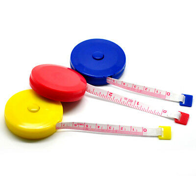 3 x Coloured Dressmakers/Tailors Tape Measures FREE POST UK