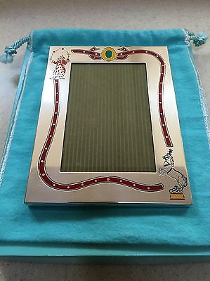 Very rare Tiffany & Co Gene Moore sterling silver enamel circus frame clown 925