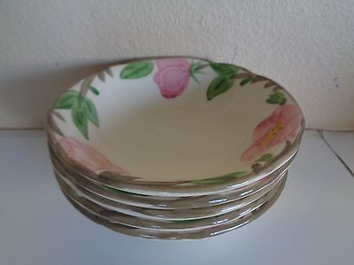 Franciscan Dinnerware Desert Rose Berry Bowls Set of 5 Made in England NICE