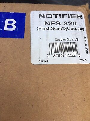 New In Factory Sealed Box, Notifier Nfs-320 (2 Available To Bid On, Free Ship!)