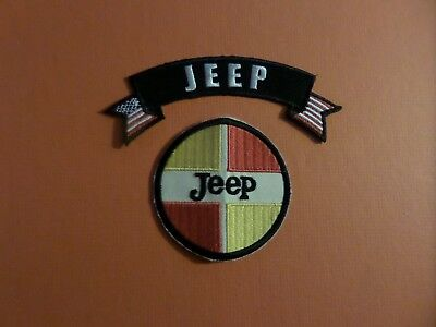 Lot Of 2- Jeep 2-7/8 X 2-7/8 Iron On Embroidered  Patches #101
