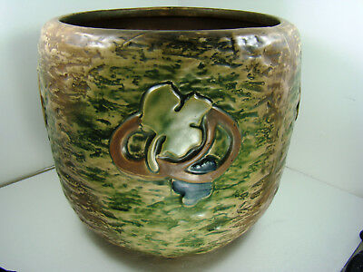Roseville Pottery Imperial I Textured 1921 HUGE! Jardiniere 12 inch Wide 591-10
