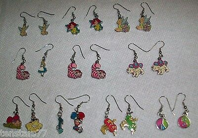 Disney Parks Enamel CHARM CUSTOM EARRINGS Stainless Steel WIRE Choice Characters