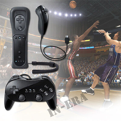 Built in Motion Plus Remote + Nunchuck Controller & Classic Pro For Wii & Wii U