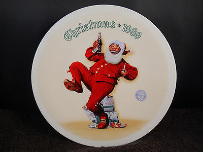 "1989 Norman Rockwell ""jolly Old St. Nick"" Collector Plate-Knowles -W/coa - Pepsi"