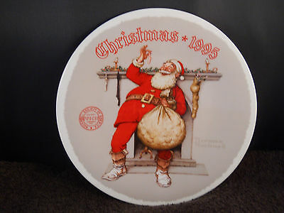 "1995 Norman Rockwell ""filling The Stocking"" Collector Plate-Knowles -W/coa"
