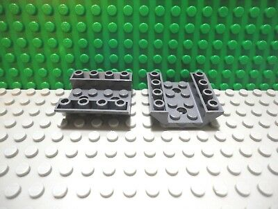 Lego 2 Black 6x4 Double Inverted brick block Slopes with cut out NEW