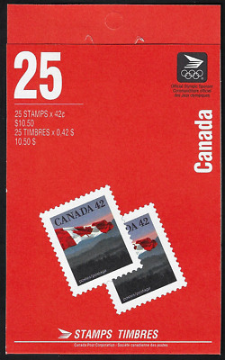 Canada Stamps - Booklet Pane of 25 - Flag Over Hills #1356c (BK138) - MNH