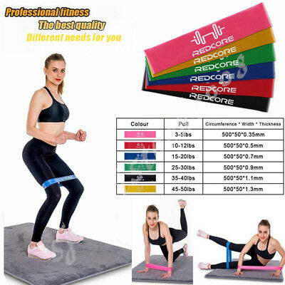 6pc Resistance Loop Bands  Exercise Loops Resistance Band Natural Latex Set AU