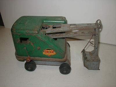 Marx Lumar Contractor steam shovel vintage Tin toy 1950's