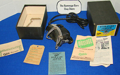vintage OSTER STIM-U-LAX JUNIOR MASSAGER Model M4 with Box and Paperwork