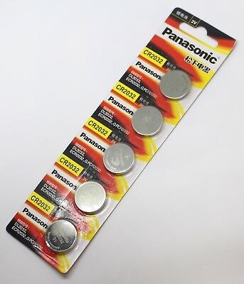 **NEW** 5x Panasonic CR2032 Lithium Battery 3V Coin Car Key Remote Appliances