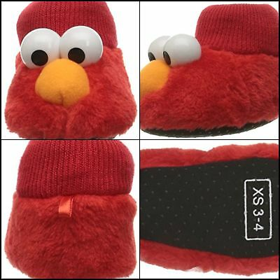 Sesame Street Baby Elmo Puppet Slipper Hot Sale Fast Red 3/4 Child US Toddler