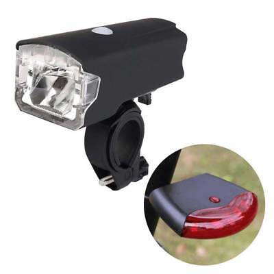 Bicycle Bike USB Rechargeable Head Light Headlight Front Sensor Rear Brake Light