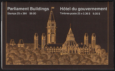 Canada Stamps - Booklet of 25 in Cover - Parliament Building #926Bd (BK94) - MNH