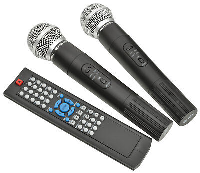 QTX PAV8 portable PA set + 2 UHF mics, CD/DVD, USB/SD & Bluetooth NEW