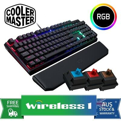 Cooler Master MasterKeys MK750 Mechanical Keyboard RGB Cherry MX // Blue // Brow