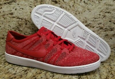 NEW Nike Tennis Classic Ultra Flyknit Red White Cork Insole Shoes SZ 11 Federer