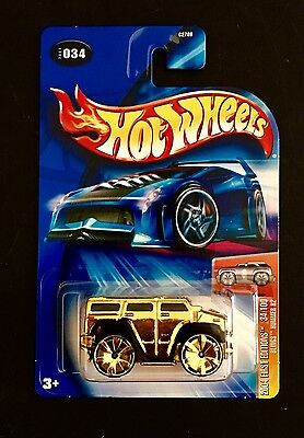 Hot Wheels 2004 First Editions Gold  Blings Hummer H2 Exclusive #034/100 Vhtf