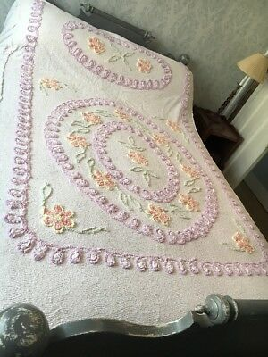 Vintage Double Candlewick Bedspread